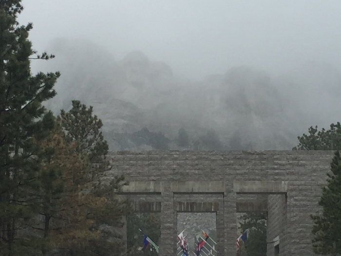 Our view of Mt Rushmore