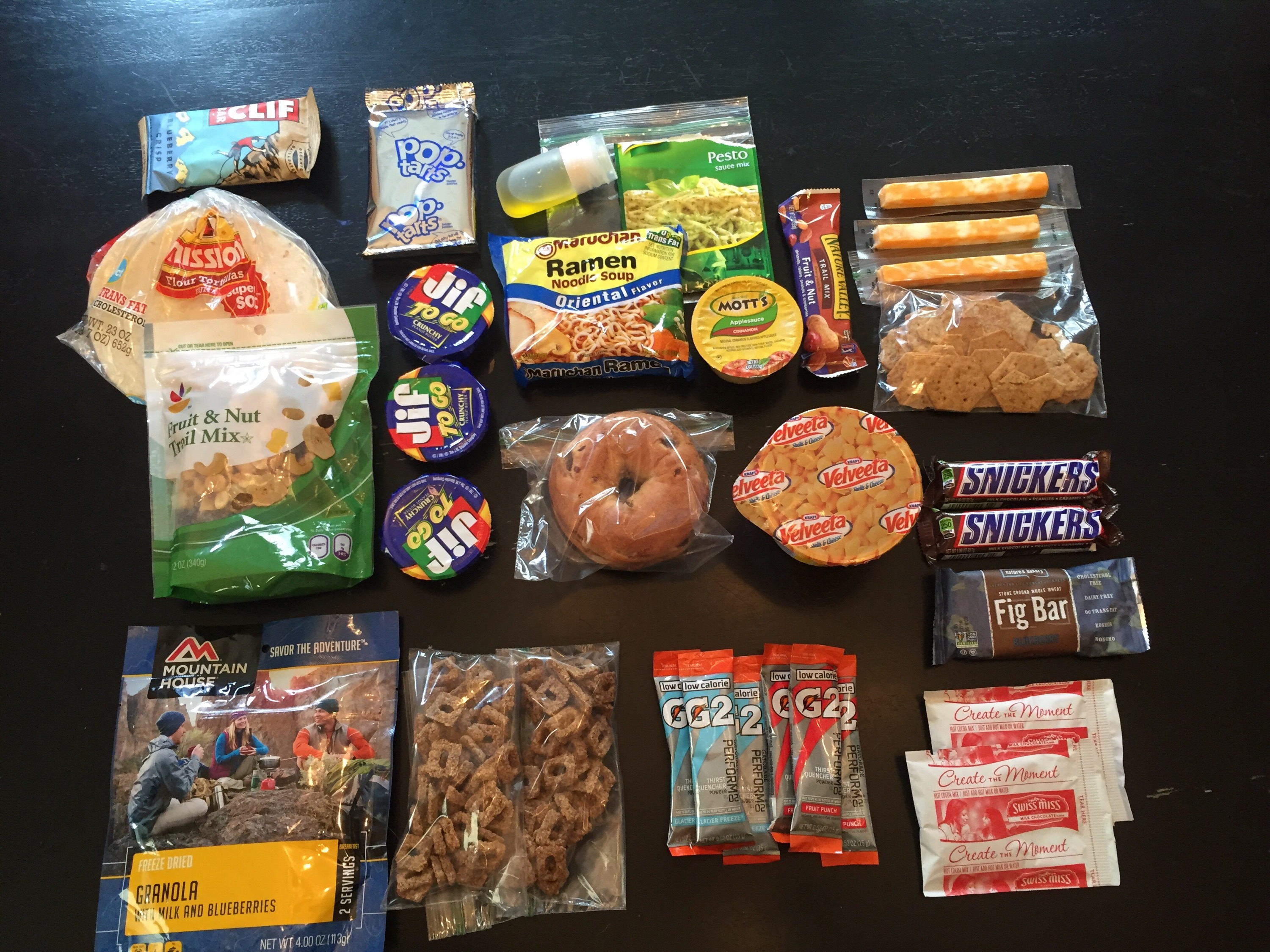 4 Day/3 Night Backpacking Food List