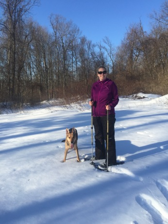our first snowshoeing trip!