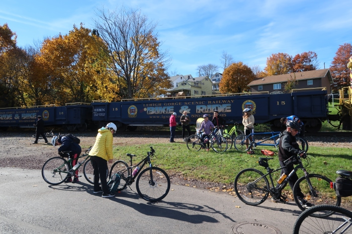 Bike train in Jim Thorpe